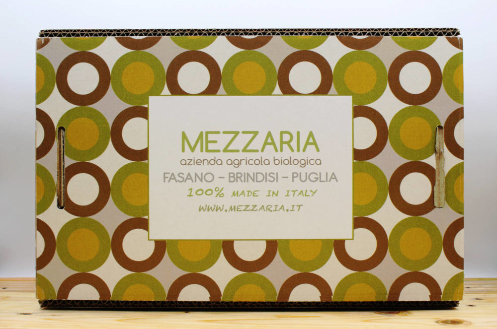 Gift box 3 - mandorle olio extravergine d'oliva - scatola decorata - Mezzaria