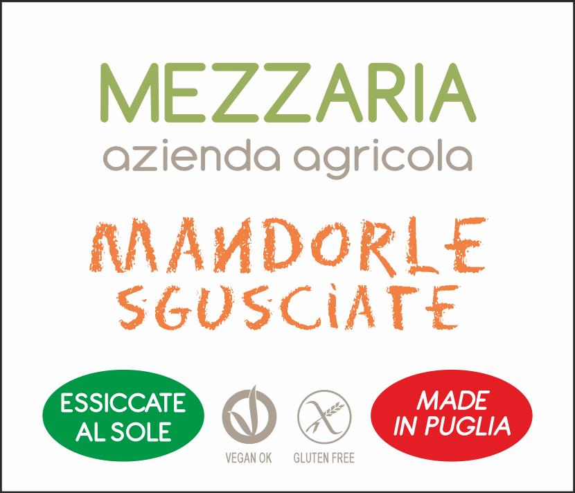 Mandorle sgusciate - etichetta - Mezzaria - Fasano - Puglia