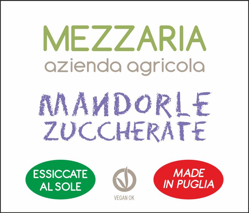 Mandorle zuccherate - etichetta - Mezzaria - Fasano - Puglia