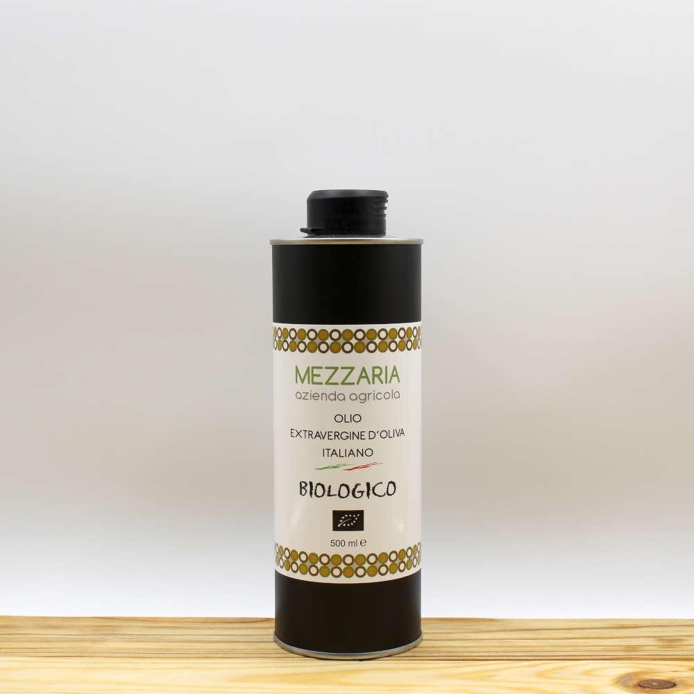 Olio Extravergine d'Oliva Biologico 0,5 L - Blend - Mezzaria - Fasano - Puglia