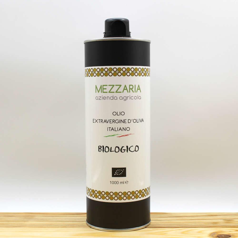 Olio Extravergine d'Oliva Biologico 1 L - Blend - Mezzaria - Fasano - Puglia