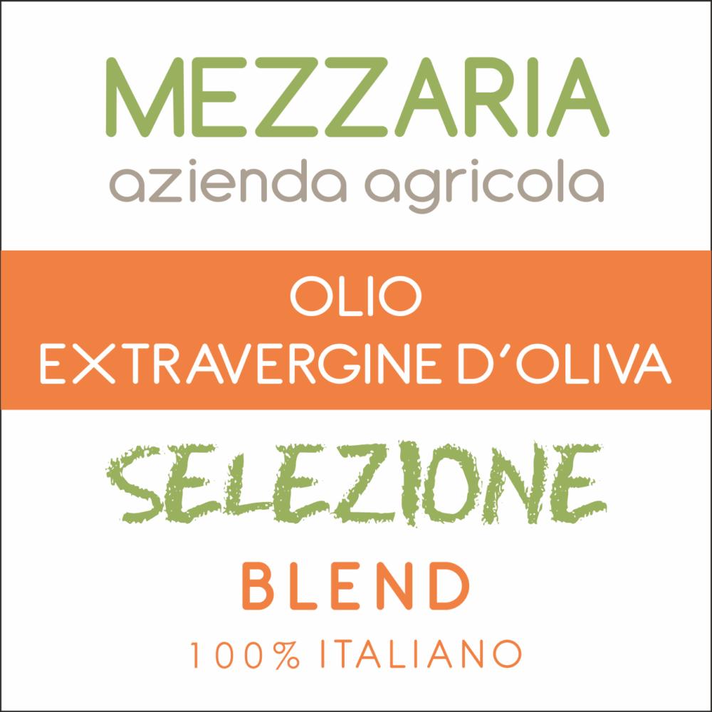 Olio extravergine d'oliva Selezione Blend - etichetta - Mezzaria Azienda Agricola