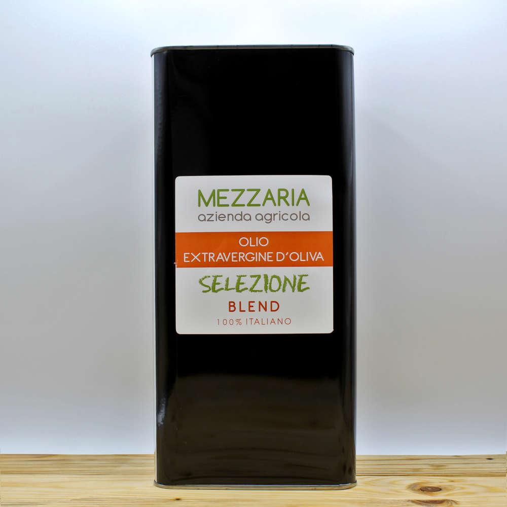 Olio extravergine d'oliva - Selezione Blend - latta 5L - Mezzaria Azienda Agricola
